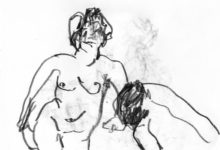 nude woman and man